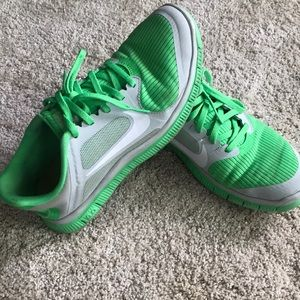 Nike Free 4.0 Rare Lime Green Size 8.5 Women's